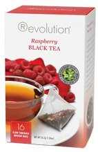 Čaj Revolution Tea - Raspberry - Black tea, 16ks, ekonom